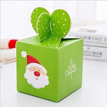 QUQUET 6 unids / Lote Decoraciones de Bolsas de Dulces de Dibujos Animados de Navidad Cajas de Regalo de Papel para Invitados Baby Shower Supplies @ Green__Santa_Claus6: Amazon.es: Juguetes y juegos
