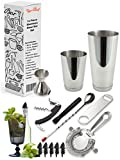 Image of Tiger Chef 14 Piece Stainless Steel Bar Set & Cocktail Making Set Includes Bar Tools & Accessories