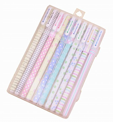 10pcs Creative Color Gel Ink Pens Marker Pen Highlighters Stationery