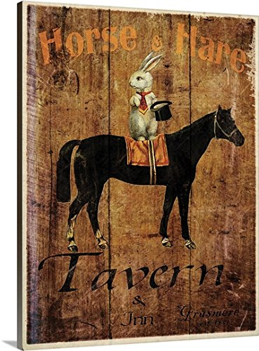 Tavern Canvas Art - Jason Giacopelli Premium Thick-Wrap Canvas Wall Art Print entitled Horse and Hare Tavern 30
