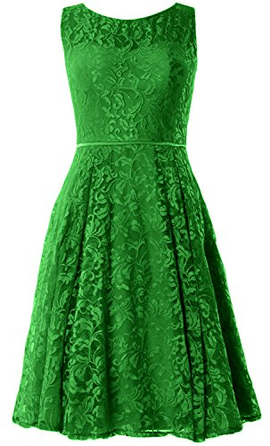 MACloth Women Lace Cocktail Dress Vintage Knee Length Wedding Party ...