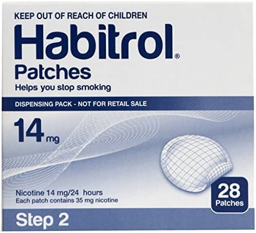 Novartis Habitrol 14mg Nicotine Patches, Step 2. Stop Smoking. 2 Boxes of 28 Each (56 Patches) 14 MG