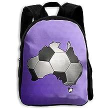 LAUR School Season Kids Backpack Travel Gear Daypack,Child Football Soccer In Australia Shoulder Bag