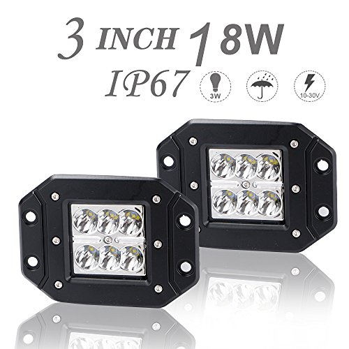 DOT Approved 2Pcs 3x3In 18W Spot LED Light Bar Offroad, used for sale  Delivered anywhere in Canada