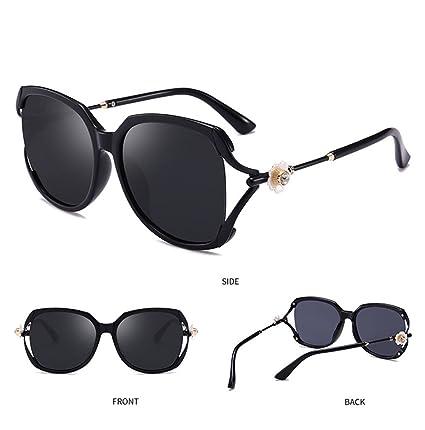 6969a0527 Z&HA Women's Polarized Sunglasses Big Frame Driving Glasses Flower Diamond  Brand Designer Frog Mirror UV400 Protection