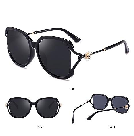 446bc77f15c Z HA Women s Polarized Sunglasses Big Frame Driving Glasses Flower Diamond  Brand Designer Frog Mirror UV400 Protection