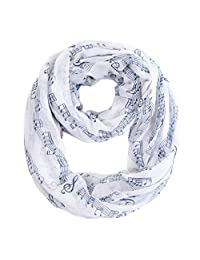 MissShorthair Music Print Infinity Scarves for Women Wraps and Shawl