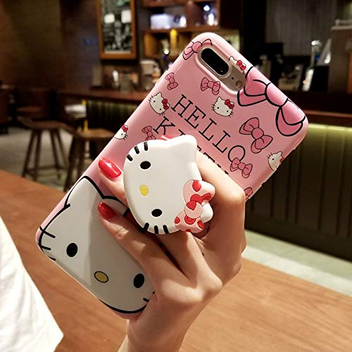 iPhone X/XS Hello Kitty Case, Cute Cartoon Case, Air Bracket Kickstand Soft Protective Shockproof Stand Holder Case Cover Skin for Apple iPhone ...