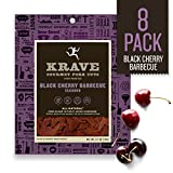 KRAVE Jerky Gourmet Pork Cuts, Black Cherry Barbeque, 2.7 Ounce (Pack of 8)