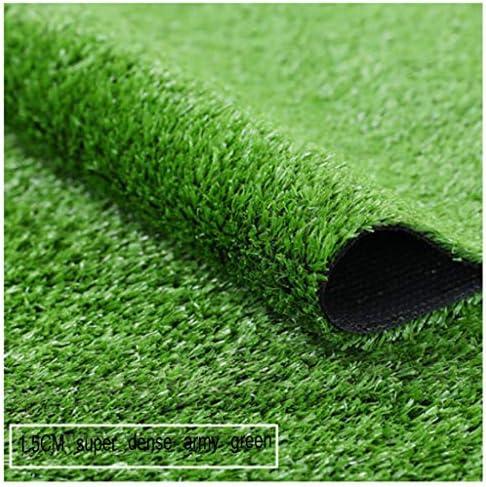 YNFNGXU 人工芝カーペット15ミリメートルパイル高屋外偽草マットグリーン超高密度芝生2×1メートル (Size : 2x15m)