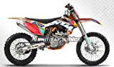 Kungfu Graphics Motorcycle Dirt Bike Aftermarket Décor Wrap, Racing Sticker Pack, Fit 2013 2014 KTM 125 150 250 350 450 SX SXF XC XCF, Print Number and Name