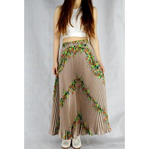 YSJ Womens Pleated Long Maxi Skirt - 35 4