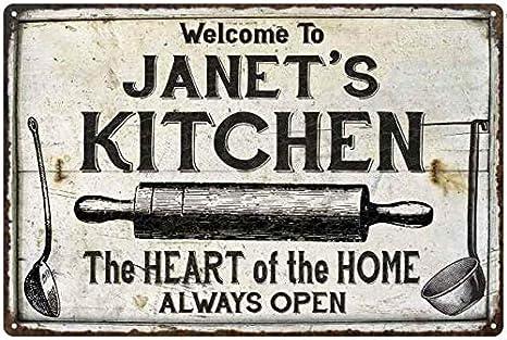 Amazon Com Chico Creek Signs Janet S Kitchen Farmhouse Sign