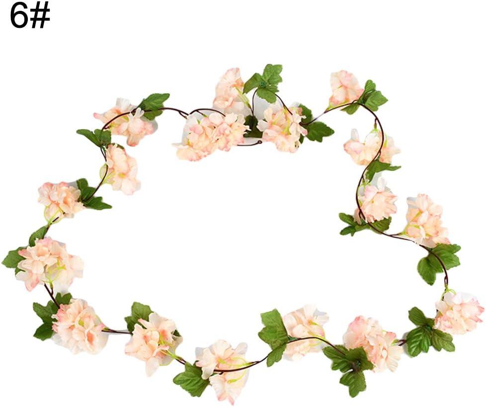 pittospwer 2 piezas flor de cerezo Guirnalda de ratán Guirnalda Fiesta Jardín Navidad Boda Decoración Dark Pink: Amazon.es: Jardín