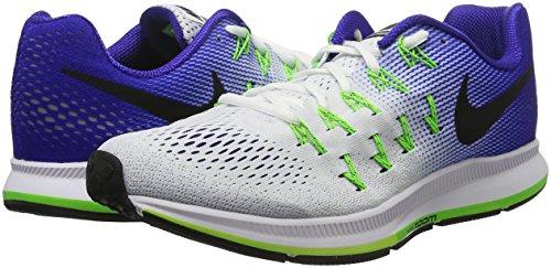 Nike Air Zoom Pegasus 33, Zapatillas de Running Para Hombre Blanco (White / Black-Concord-Elctrc Grn)