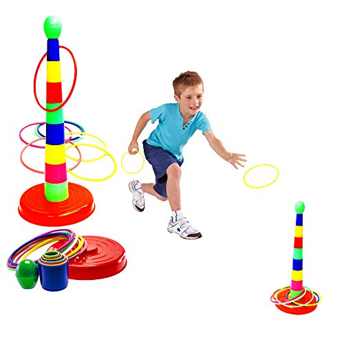 """Toy Cubby Plastic 18"""" Tower and Ring Toss Game  1 Set"""