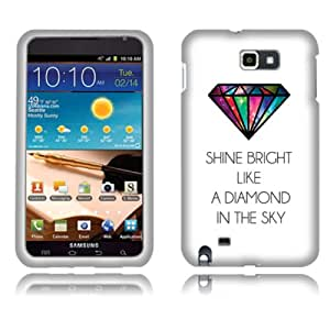 Fincibo (TM) Samsung Galaxy Note N7000 I9220 Protector Hard Plastic Snap On Cover Case - Shine Bright Like A Diamond, Front And Back