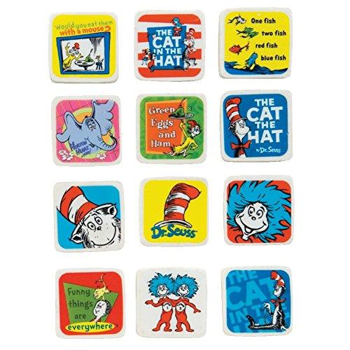 Raymond Geddes Dr. Seuss Character Erasers, 60 Pack (68509) -