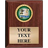 5x7 Custom Wood Finish Honor Roll Awards - Academic Honor Roll Vertical Plaque Award Prime