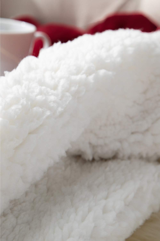 Plaid Letto Singolo Coperte di Sherpa e Flanell Microfibra Morbida Bedsure Coperta di Pile Sherpa per Letto e Divano Grande Rossa 240x220cm