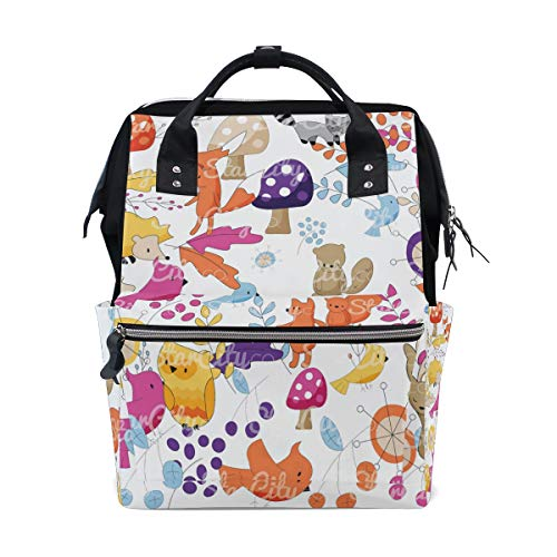 Laptop Travel Backpack for Women Decoration Clip Art Diaper Bag Backpack Multi-Function Mummy Nappy ()