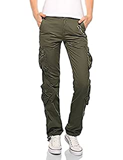 70a631d0c86a Molecule Women's Rope-Belted Relaxed Fit Regular Rise Cargo Trousers ...