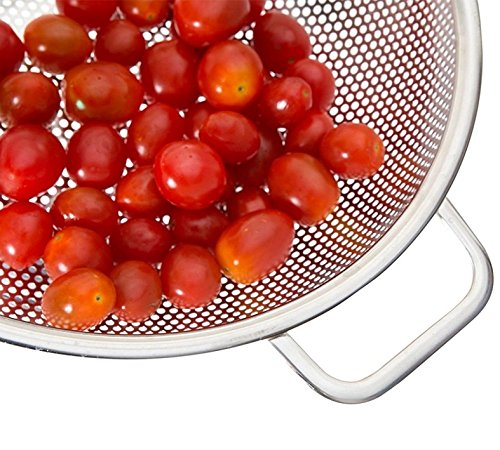 PriorityChef Colander, Stainless Steel 3 Qrt Kitchen Strainer With Large Stable Base by Priority Chef (Image #7)