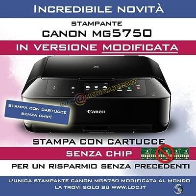 Impresora modificata Canon MG5750 - Impresión con Cartuchos ...