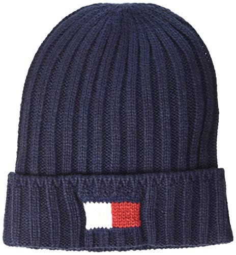 (Tommy Hilfiger Men's Cold Weather Cuffed Beanie, Navy, One Size)
