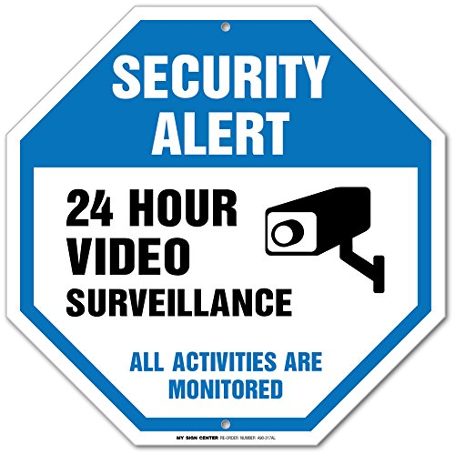 Security Surveillance Activities Monitored Sign