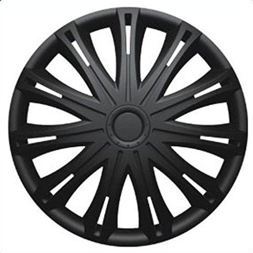 Versaco FIAT PUNTO EVO (2010 on) 14 inch Black Car Alloy Wheel Trims Hub Caps Set of 4