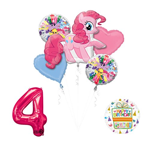 Mayflower Products My Little Pony Pinkie Pie 4th Birthday Party Supplies Balloon Decorations -