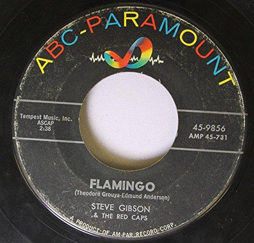 STEVE GIBSON & THE RED CAPS 45 RPM Flamingo / Silhouettes (Flamingo Silhouette)