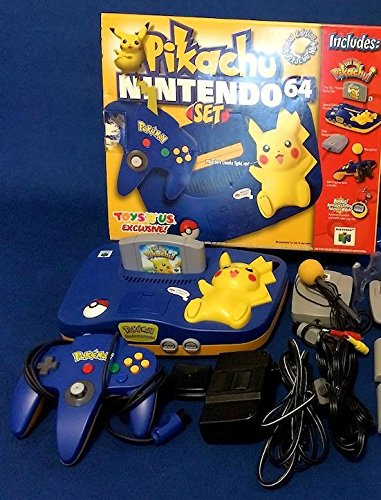 Nintendo 64 System - Video Game Console - Pikachu Bundle