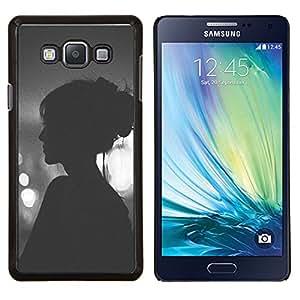 Eason Shop / Premium SLIM PC / Aliminium Casa Carcasa Funda Case Bandera Cover - Viñeta Hipster Mujer Noche - For Samsung Galaxy A7 ( A7000 )
