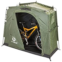 Built from tough, heavy duty, weatherproof and UV protected materials, the YardStash III provides high quality space-saving and portable outdoor storage, organization and protection for your bicycles (fits two adult bikes with room to spare),...