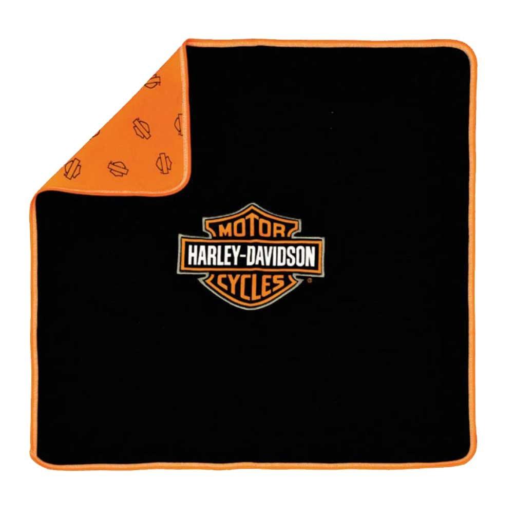 HARLEY-DAVIDSON Baby Receiving Blanket - Orange & Black