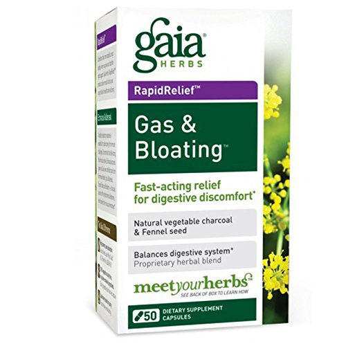 Gaia Herbs Gas & Bloating Digestive Support, 50-capsule Bottle ( Multi-Pack) by Gaia Herbs Gas & Bloating Digestive Support, 50-capsule Bottle (2-Pack)