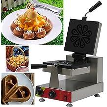 Commercial Rotary Waffle Machine Flower Petals Waffle Maker Water Drop Waffle Toaster Heart Shape Waffle Machine (220V)
