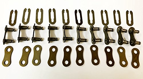 10 sets Single Speed Bike Chain Link Master Link Replacement No Tool (Single Chain Link)