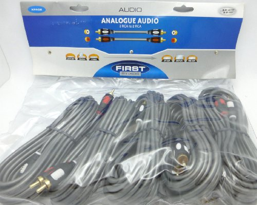CA Audio Interconnects Multi-pack 5 x 3 meter RCA Pairs (Ixos Audio Cable)