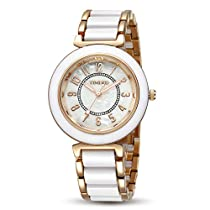 Time100 Fashion Elegance Ladies Watch Round Dial Ceramic Watches for Womens W5010