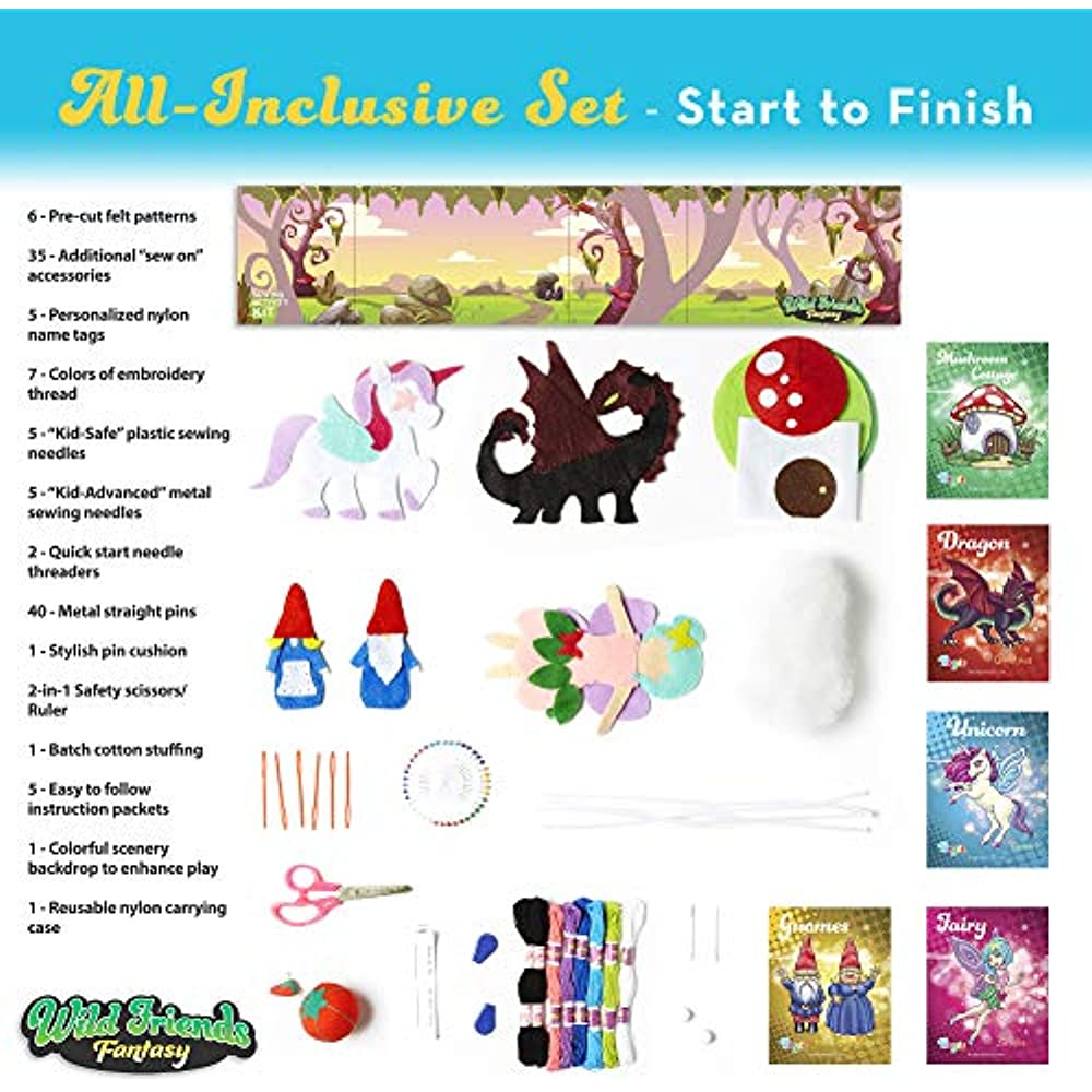 Learn How To Sew Panda And Koala Easy Diy Craft Felt Animals Sewing With Big Holes For Beginners Sewing Kit For Kids Age 7 to 12
