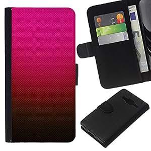 All Phone Most Case / Oferta Especial Cáscara Funda de cuero Monedero Cubierta de proteccion Caso / Wallet Case for Samsung Galaxy Core Prime // Gradient Color Pink Red Brown