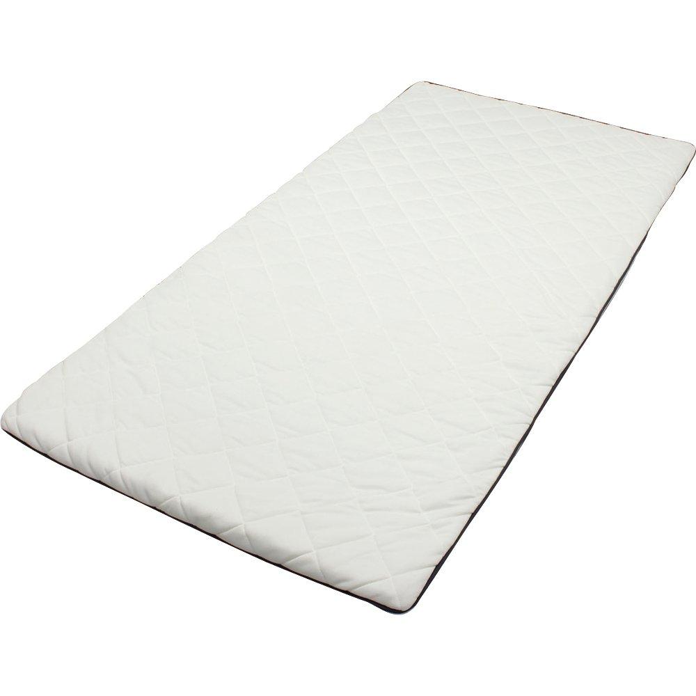 アイリスオーヤマ エアリー 敷きパッド 厚さ3.5cm 高反発 リバーシブル 通気性 高耐久性 抗菌防臭 洗える シングル ホワイト PAR-S B00BOGQFV2  シングル