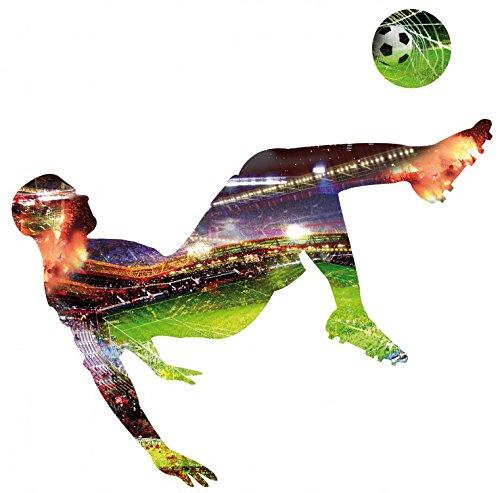 1art1 88410 Fußball - Fallrückzieher Wand-Tattoo