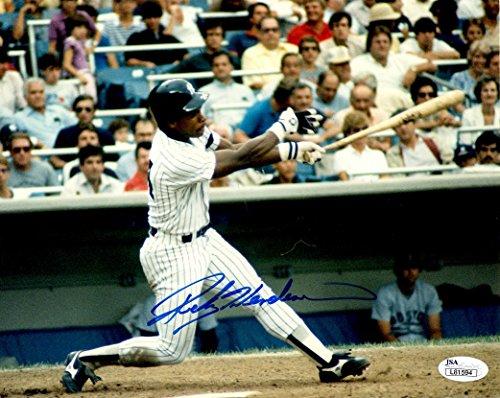 Autographed Hof'R Rickey Henderson 8X10 New York Yankees Photo JSA