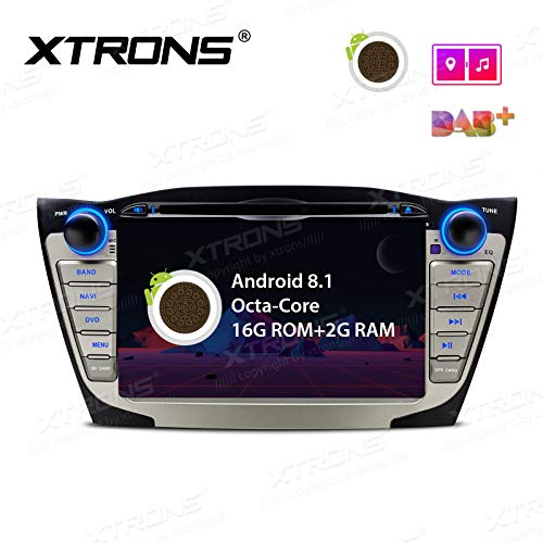 (XTRONS 7 Inch Android 8.1 Octa Core HD Digital Multi-touch Screen Wifi Video Car DVD Player Custom Fit for Hyundai Tucson IX35)