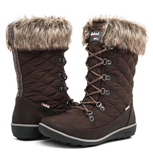 Globalwin Women's 1731 Winter Waterproof Snow Boots (8 D(M) US Women's, ()