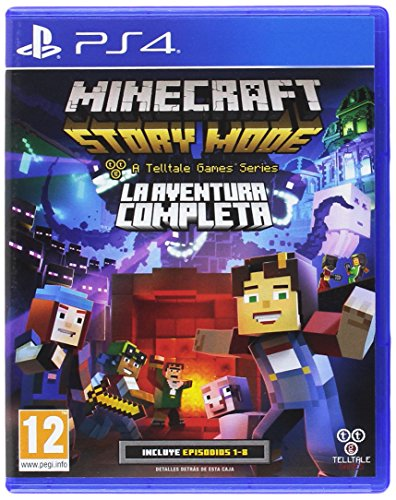 Minecraft Story Mode The Complete Adventure PS4 Playstation 4 (Spanish Cover but Full English in Game) (Minecraft Story Mode Ps4 The Complete Adventure)